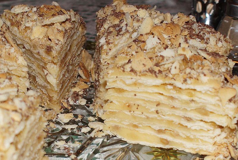 Торт наполеон из лаваша рецепт с фото
